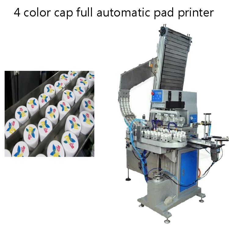 4 color cap pad printer with all fully automatic