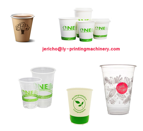 Cup full auto screen printer with UV system